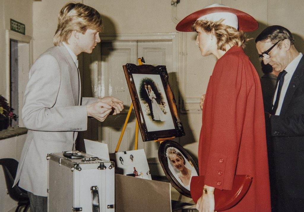 DAVID MEETS AND PHOTOGRAPHS LADY DIANA