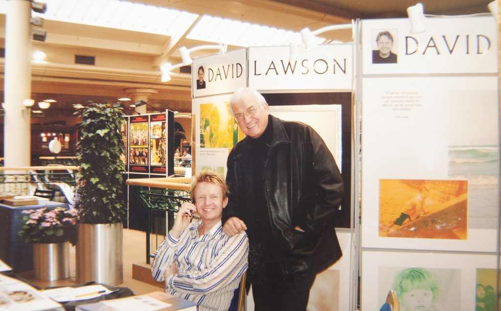 DAVID WITH HIS DAD BOB AT A TRADE SHOW SELLING OUR SERVICES