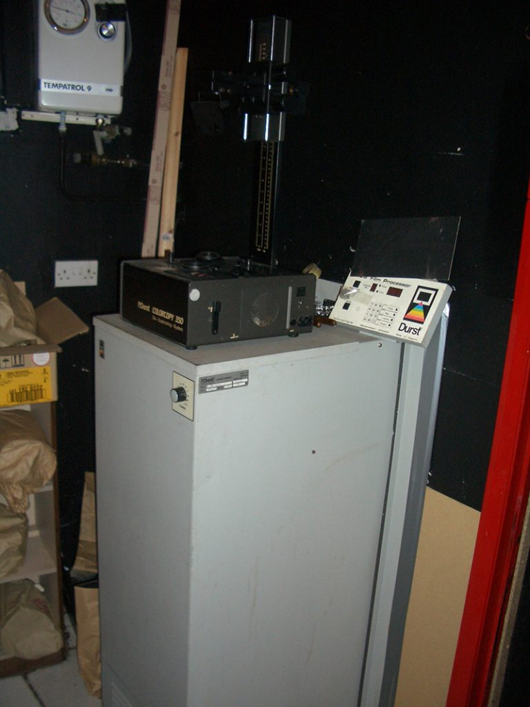 DURST C41 FILM PROCESSOR THIS END WAS THE DRYING CABINET