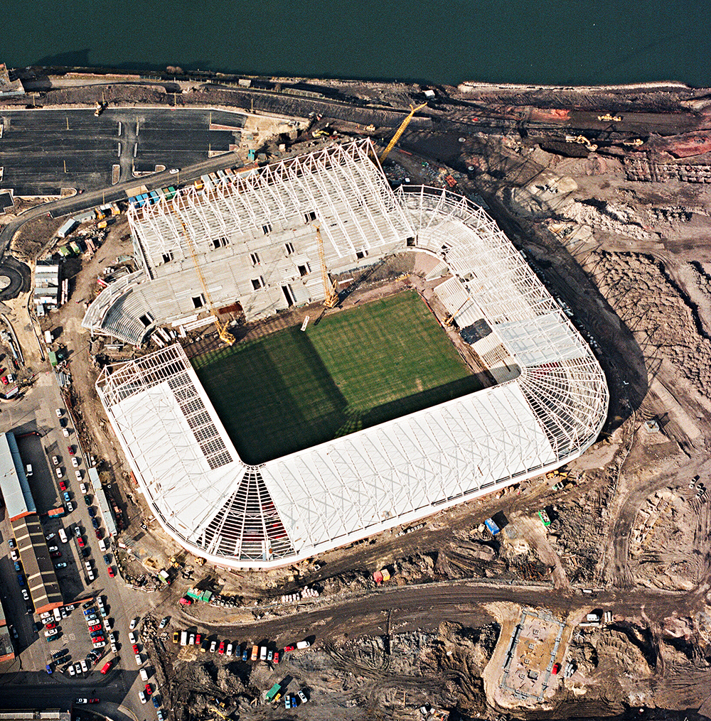 "AERIAL PHOTOGRAPHY ""THE STADIUM OF LIGHT"" SAFC"