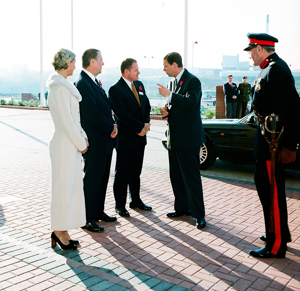 """H.R.R PRINCE ANDREW ARRIVES AT """"THE STADIUM OF LIGHT"""" SAFC"""